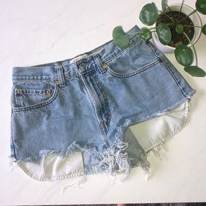 Levi Distressed 505 Jean Shorts